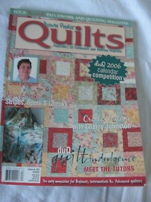 Down Under Quilts Magazine #83 Patchwork Stripe Spot Check Texture Textile Art