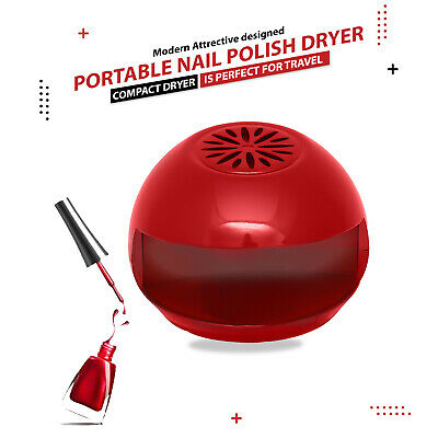Nail Polish Dryer Blow Dry Portable Easy Fan Quick Pedicure Beauty Red Travel
