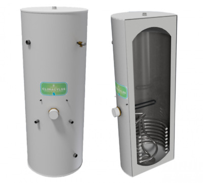300L Unvented Indirect Heat Pump Cylinder with 3kW Immersion