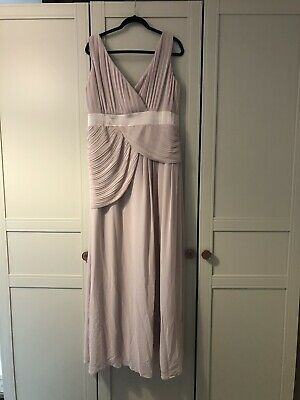 TFNC Pink Blush Long Bridesmaid Dress Uk 18, Amaxing Condition!
