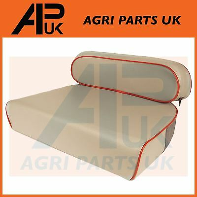 Massey Ferguson Tractor One Piece Seat Cushion Embroided MF Triangle