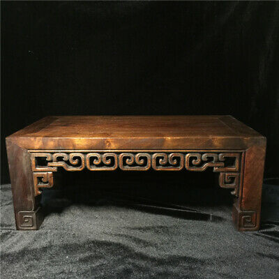 Antique Old Chinese Huanghuali Wood Carved Dynasty Table Desk Furniture DeskGift