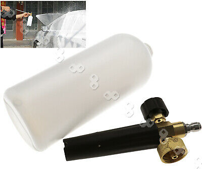 Car 1L Snow Foam  Lance Cannon Pressure Washer Adjustable Soap Spray w/Adapter