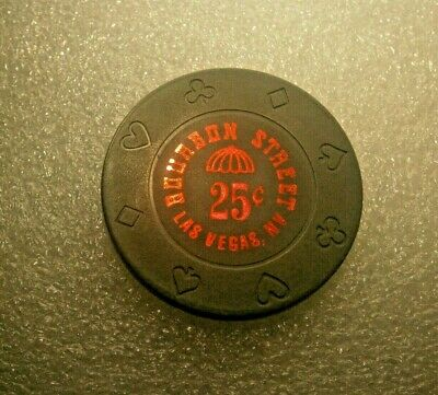 Bourbon Street 25 Cent Fractional Casino Gaming Chip Las Vegas, Casino Closed