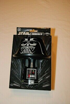 Shanghai Disney Star Wars Darth Vader Stacking Meal Set Bowl Plate Cup NEW