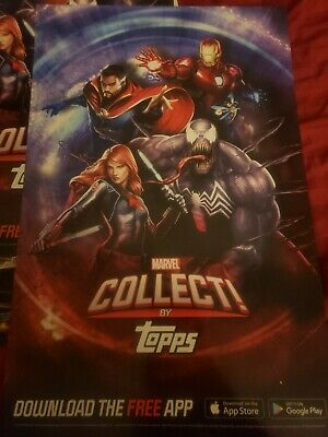 NYCC 2019 Marvel Collect Topps Exclusive Promo poster