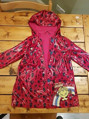 Girls raincoat age 4-5 Little Miss Sunshine