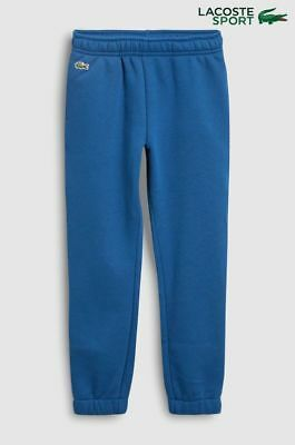 BNWT Boys Lacoste Blue Tracksuit Bottoms Joggers SPORTS SIZE AGE10 YEARS ideal