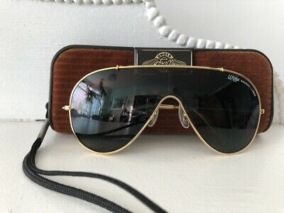 Exc*Nos*Vtg*L1376*Wings*B-15 Golden Ray-Ban B&L Usa General Sunglasses & Case