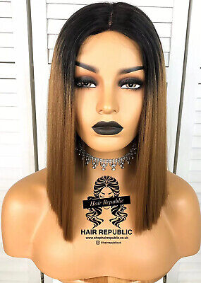 Synthetic Lace Front Wig Ombre Brown Lace Front Wig