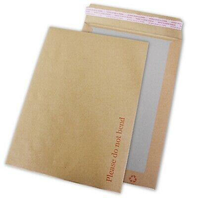 A4 Hard Back Card Board Back Envelopes Peal and Seal 'DO NOT BEND' Manilla C4