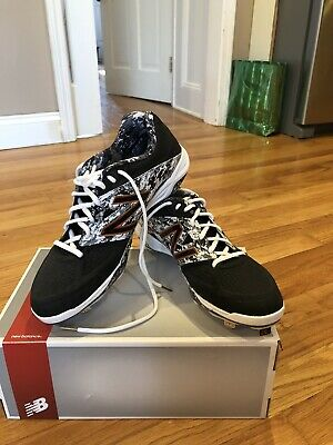 New Balance Dustin Pedroia low Metal Baseball Cleat Men's Shoes Red/Gray/White