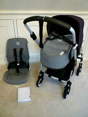 Bugaboo Bee 3 Complete with Carrycot etc-Grey Melange & Black-Ex Condition