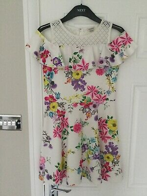 River Island Girls Cold Shoulder Dress Age 11-12 Years