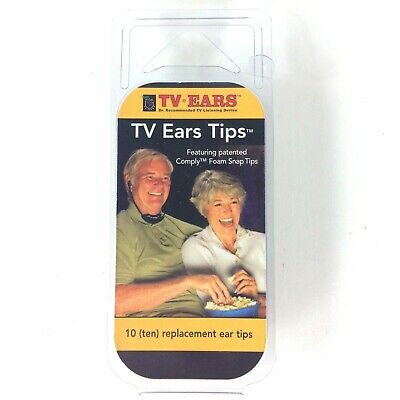 TV Ears Tips Set 10 Replacements New in Package