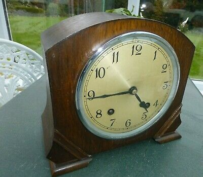 Mantel clock By Garrard   Time side of clock working Striking side not working