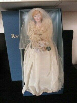 Royal Doulton Nisbet Heirloom Doll Diana Princess Of Wales In Her Wedding Gown