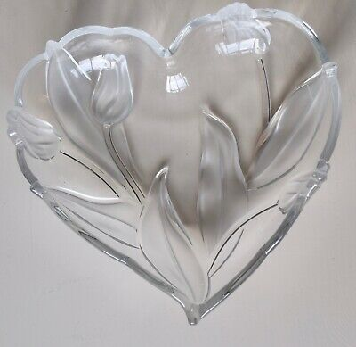 Heart Shaped Dish/bowl With A Tulip Design