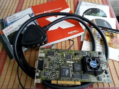 Matrox RT.X100 Xtreme PCI FireWire Video Editing Capture Card