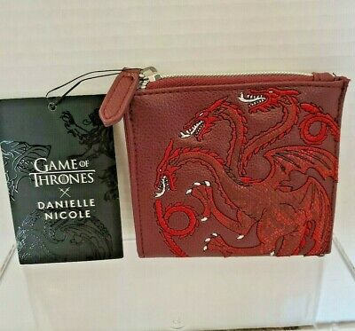 Danielle Nicole Game Of Thrones House Targaryen Coin Purse Red Dragon NEW