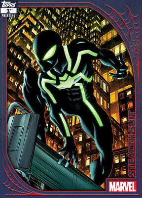Topps Marvel Collect Stealth Suit SPIDEY SUITS 1ST PRINTING [DIGITAL CARD] 250cc