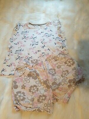 Girls 3-4 years floral bird t-shirt top & Shorts outfit summer bundle next day