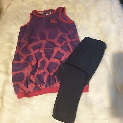 Girls 2-3 years Adidas sport gymnastic Outfit vest Top leggings bundle Next day