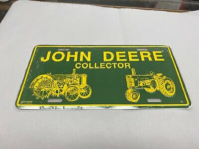 John Deere License Plate Collector Tractor Vanity Type Wall Hanger Green