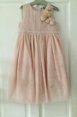 Next Girl Blush pink Dress Party Birthday Wedding Dress Age 4-5 years