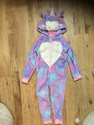 Girls Unicorn All In One, Jumpsuit, Age 3-4 Nutmeg