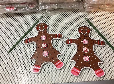 "Gingerbread Girls-Tree, Pot Ornaments, new without tags, 6.25"" h x 4.5"" w"