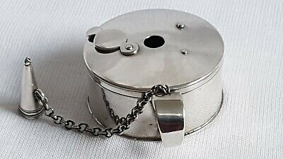 Antique Sterling Silver Bougie-Box Travelling Wax Jack & Snuffer