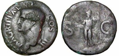 ROMAN COLLECTIBLE COIN, AGRIPPA, Died 12 BC. Æ As(28mm. 10.8g.)+++
