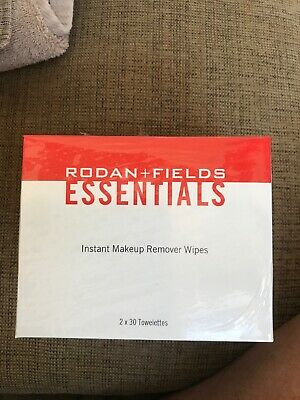 New~Rodan +and Fields Essentials Instant Makeup Remover Wipes 60 Wipes Sealed