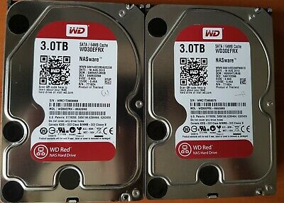 "2 x WD Western Digital Red NAS 3 TB 3.5"" Hard Drive - WD30EFRX"