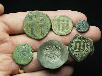 Lot of 6 Ancient Byzantine and Arab-Byzantine coins