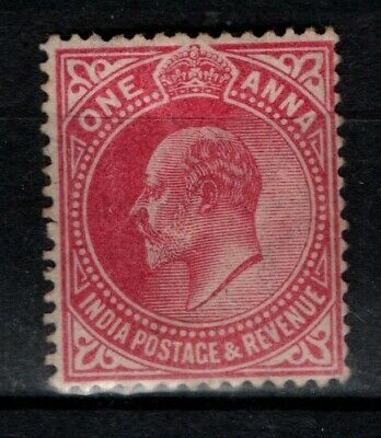 India 1906 1907 King Edward VII 1a One Anna SG150 Mint MH
