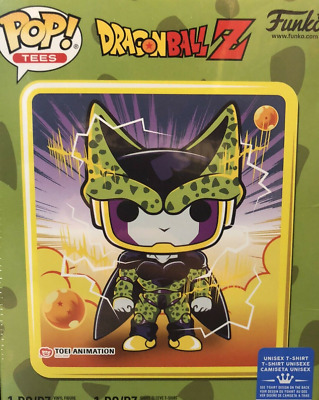 Funko Pop! Dragon Ball Z Perfect Cell Box~ Sealed~ Gamestop Exclusve~ Lrg Tee~