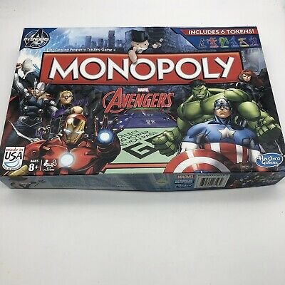 2014 Hasbro Marvel Avengers Edition Monopoly Missing 2 Tokens Free Shipping