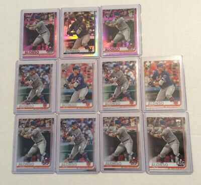 2019 Topps Chrome Update Sepia Pink Refractor Pete Alonso (11) Rookie Card Lot