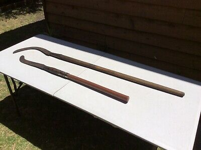 2 Old Large Sickles; Scythe; Old Tool; Rustic; Decorative