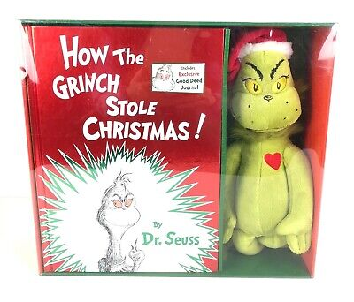 How The Grinch Stole Christmas Gift Set w/ Grinch Plush Book Journal NEW IN BOX