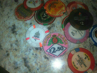 100+ Casino Chip Lot Las Vegas & NJ PA Trump Plaza Taj Clay Ceramic $1 $5 Look