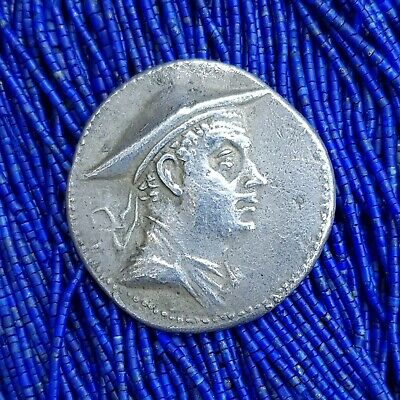 RARE Greek (Empire) King Eucratides Tetradrachm Ancient Huge Size Silver COIN