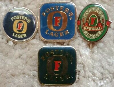 Fosters Beer Brewery badge Collection x 4 Older Lot
