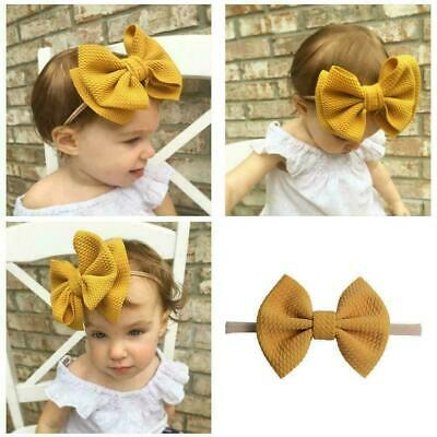 Baby Girls Delicate Bow Knot Headband Nylon Hairband Accessories Stret Hair Y8Z8
