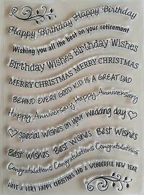 Clear Silicone Stamps for Craft Card making Scrap booking - Curvy words