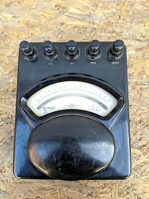 Voltage Multimeter Voltmeter Indicator Vintage Soviet Russian USSR