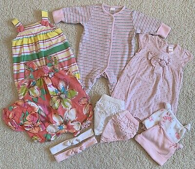 LOOK! 👀 Beautiful Bundle of NEXT Baby Girl NEWBORN Clothing 10+ items!!!
