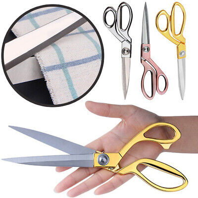 Stainless Steel Tailor Scissors Sew Cut Craft Fabric Dressmaking Textile Shears